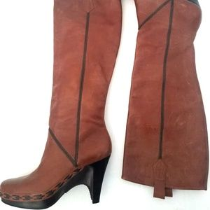 Cole Haan pull-on leather women's boots 7.5B